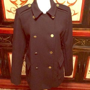 Liz Claiborne Classic black double breasted jacket